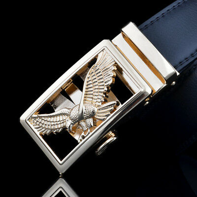 Business Real leather Automatic Buckle Belt Men's Waistband Waist Strap Eagle