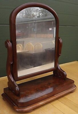 Antique Victorian Mahogany Swing Dressing Table Toilette Mirror