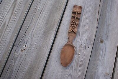 Carved Wooden Love Spoon Vintage