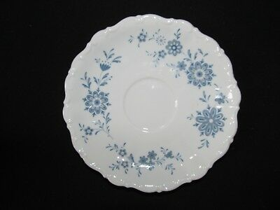 Christina Porcelain Seltmann Weiden W. Germany Bavarian Blue Saucer Scallop Edge