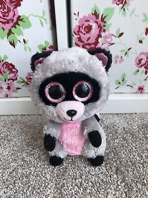 LARGE TY BEANIE Boo Rocco Racoon Plush Teddy Toy Collectable - £7.99 ... a5fb5f64312