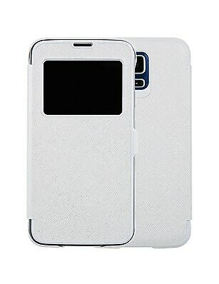 New Anymode Me-In Flip Cover for Samsung Galaxy S5 (White Lambskin Pattern)
