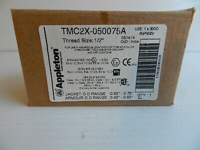 """Appleton TMC2X-050075A Cable Gland Connector For MC MCHL TECK Cable 1/2"""""""