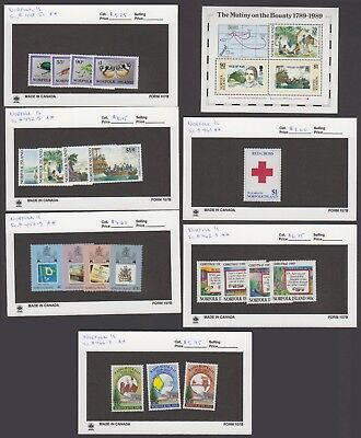 Norfolk Is. - 1989 Commemorative Set & S/S. Sc. #448-68. SG #456-476. Mint NH