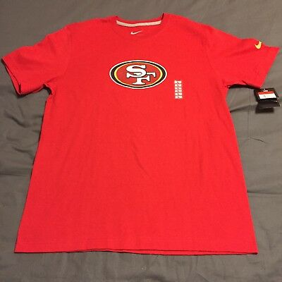 e4b141ad0 Nike San Francisco 49ers Mens T-Shirt Sz Large NWT Regular Fit Cotton
