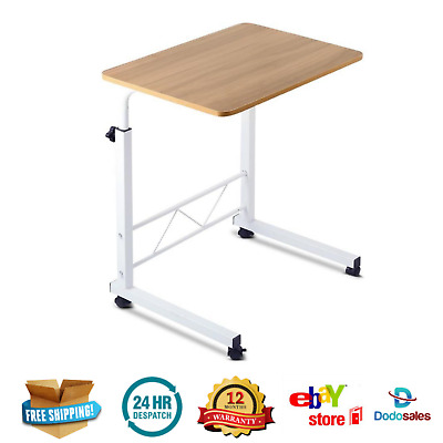 Light Wood Adjustable Mobile Table Laptop Desk Rotate 360° Computer Stand Office