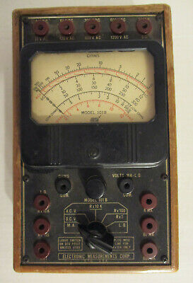 Vintage 40's Electronic Measurements Corp Multi Meter Model 101B - steampunk