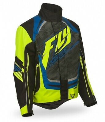 Fly Racing SNX High Performance 2016 Mens Snowmobile Jacket Black/Hi-Vis Yellow