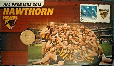 Australia  2013  PNC   AFL  HAWTHORN  $1 COIN.  Limited Edition 13000