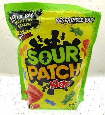Sour Patch Kids ~ Sour Then Sweet Candy ~ Resealable Bag 1.9 LBS bag