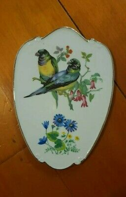 Vintage Retro Collectable Plate Wall Hanging With Birds