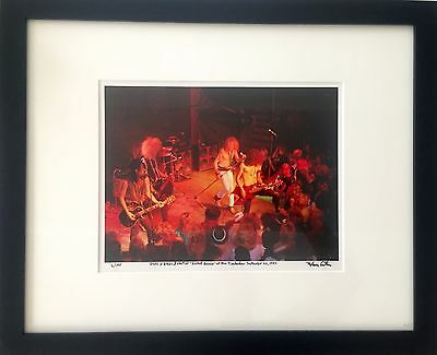 Guns N Roses Rocket Queen debut Slash Axl Rose fine art photo 1985 signed 9/100
