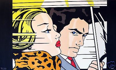 Roy Lichtenstein art painting print  abstract canvas large andy baker