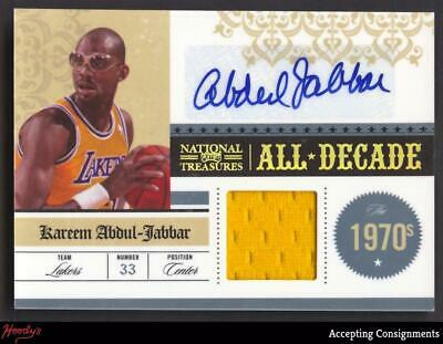 9be484887 2009-10 National Treasures All Decade Kareem Abdul-Jabbar Jersey AUTO 01 10