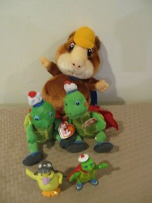 Lot of Wonder Pets Toys Ming-Ming duck Linny guinea pig Turtle Tuck Ty  Beanie e54635ef1376