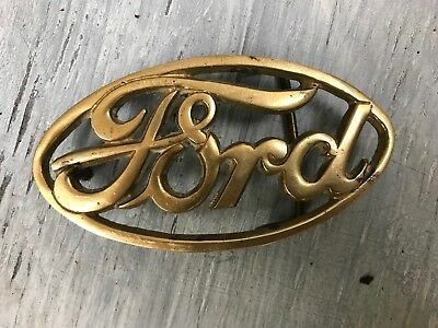 Vintage Ford belt buckle. Solid Brass. Taiwan. 799