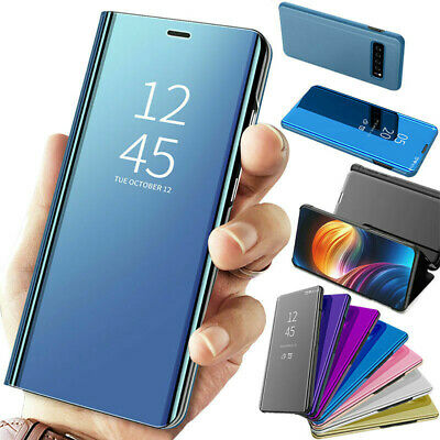 For Samsung Galaxy S10/S10 Plus Clear View Mirror Case Leather Flip Stand Cover