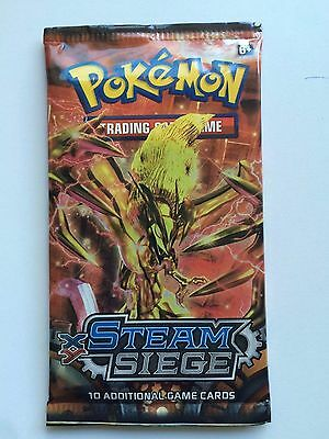 Steam Siege Pokemon Booster Pack - Pokemon Trading Card Game New/Sealed (Aus)