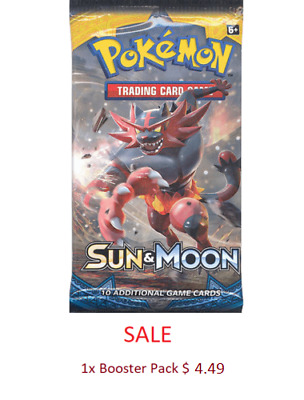 Pokemon Sun & Moon Base Set Booster Pack SALE/SPECIAL TCG Trading Card Game