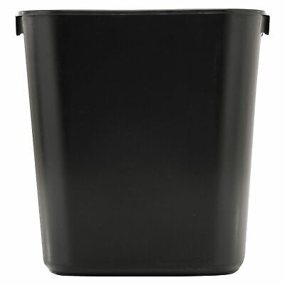 Trash Can 3 5 Gal Plastic Black Garbage Office Wastebasket Bathroom