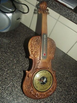 violin barometer with thermometer