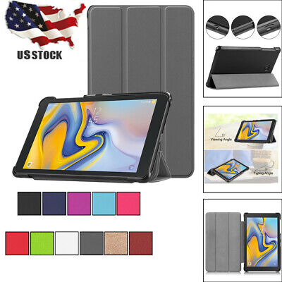 For Samsung Galaxy Tablet A 8.0 2018 SM-T387 Case Folding Folio Cases Cover R_
