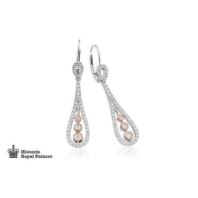 c25cfe568 BRAND NEW Official Welsh Clogau 18ct Royal Crown Diamond Drop Earrings  £1430 off