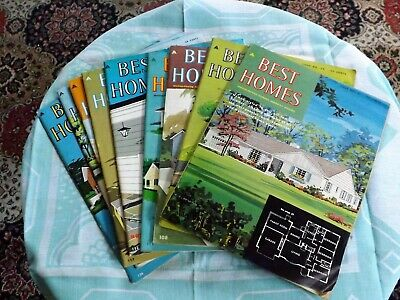 1959 vintage, 9 issues of Best homes Magazine