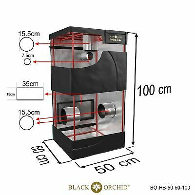 Black Orchid Hydro-box Grow Tent 50x50x100