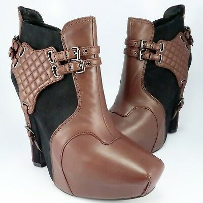 6e8c11b59a14 NEW - Sam Edelman ZOE Covered Platform Booties Womens Size 10M Brown 5-1