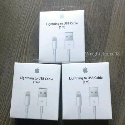 3XGenuine Original Apple Lightning to USB Charger Cable for iPhone 6s/Plus/5/SE