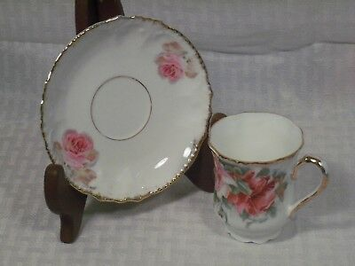 Vintage Royal Bavarian Demitasse Tea Cup & Saucer - China Germany / #8