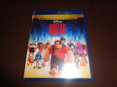 Wreck-It Ralph * New Sealed 4-Disc 3D Combo Pack * 3D Bluray, BR, DVD, Digital *