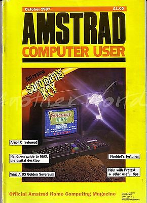 Amstrad Computer User / ACU Magazine - October 1987 - Very Good Condition Bagged