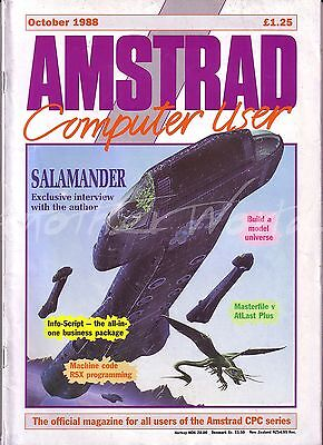 Amstrad Computer User / ACU Magazine - October 1988 - Very Good Condition Bagged