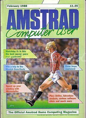 Amstrad Computer User / ACU Magazine - February 1988 Excellent Condition Bagged