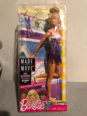 NEW 2018 Barbie Doll Made to Move Rhythmic Gymnast! Articulated Ultimate Posable
