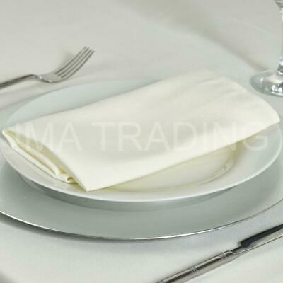 Ivory Round Tablecloth Polyester Table Cloth Various Sizes
