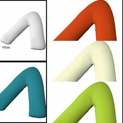 V Shaped Poly Cotton Pillow Case Orthopedic Pregnancy Back & Neck Support Cover