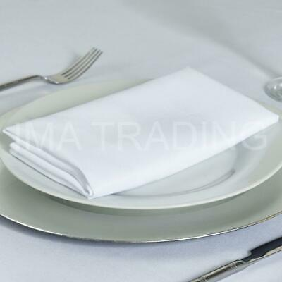 White Rectangular Tablecloth Polyester Table Cloth Various Sizes