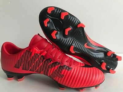 the best attitude aefc7 bfdf3 NIKE MERCURIAL VAPOR XI FG Soccer Cleats Red Black 831958-617 Men's Size 6  New