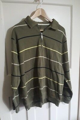 Paul R Smith Mens Striped Long Sleeved Polo Shirt Pullover Top Size XL