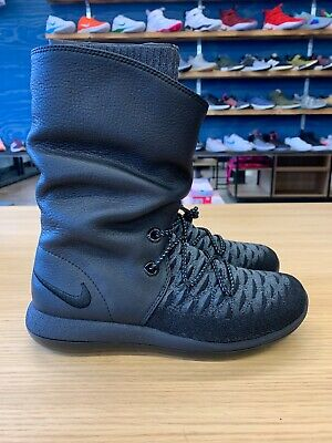 super popular f3db9 1e1b2 NIKE ROSHE TWO Hi Flyknit Women's Boots 861708 001 Black SZ 5 WMNS