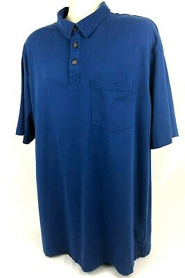 Duluth Trading Mens (XL) Long Tail T 3 Button Cotton Polo Shirt Short Sleeves