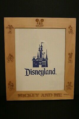 Disney Wooden Frame Mickey And Me Disneyland Picture Size 10 X 8