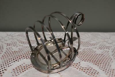 Antique Victorian Silver Plated 3 Slice Horse Shoe Toast Rack - AF - Reas Cond