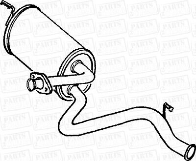 Land Rover Defender 90 2 5tdi 0 Series 90 93 Centre Exhaust Silencer