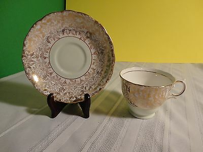 Vintage Tea Cup and Saucer - Colclough - Green