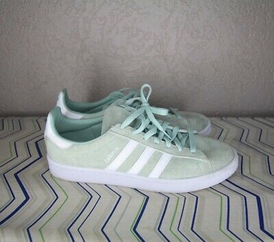 separation shoes b165b 39ff7 DB0982 Adidas Men Campus Green Ash Low top footwear white Suede leather Sz  10.5