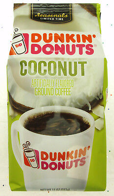 Dunkin' Donuts Coffee ~ Coconut ~ Limited Time ~ Ground ~ 11oz Bag